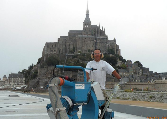 Mont Saint Michel grenaillage