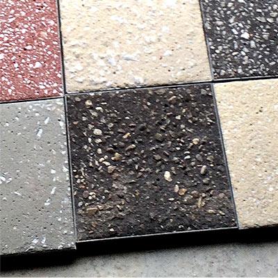 Echantillons d'asphalte grenaillé